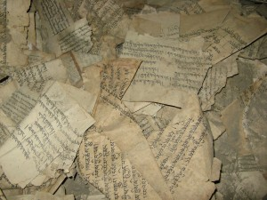 manuscripts in Mustang, Nepal